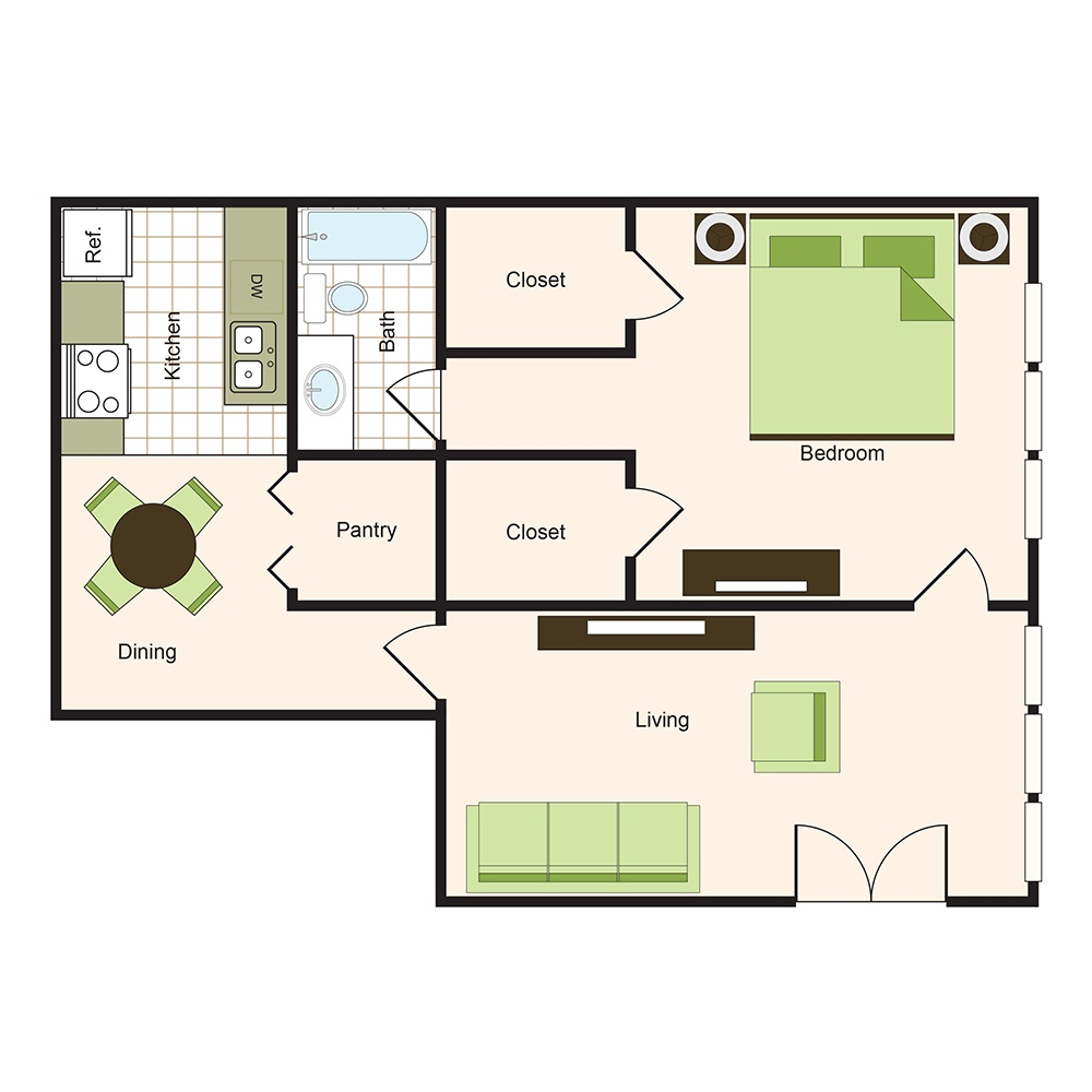 Floor plan 9 | 9900 Memorial Houston Luxury Apartments