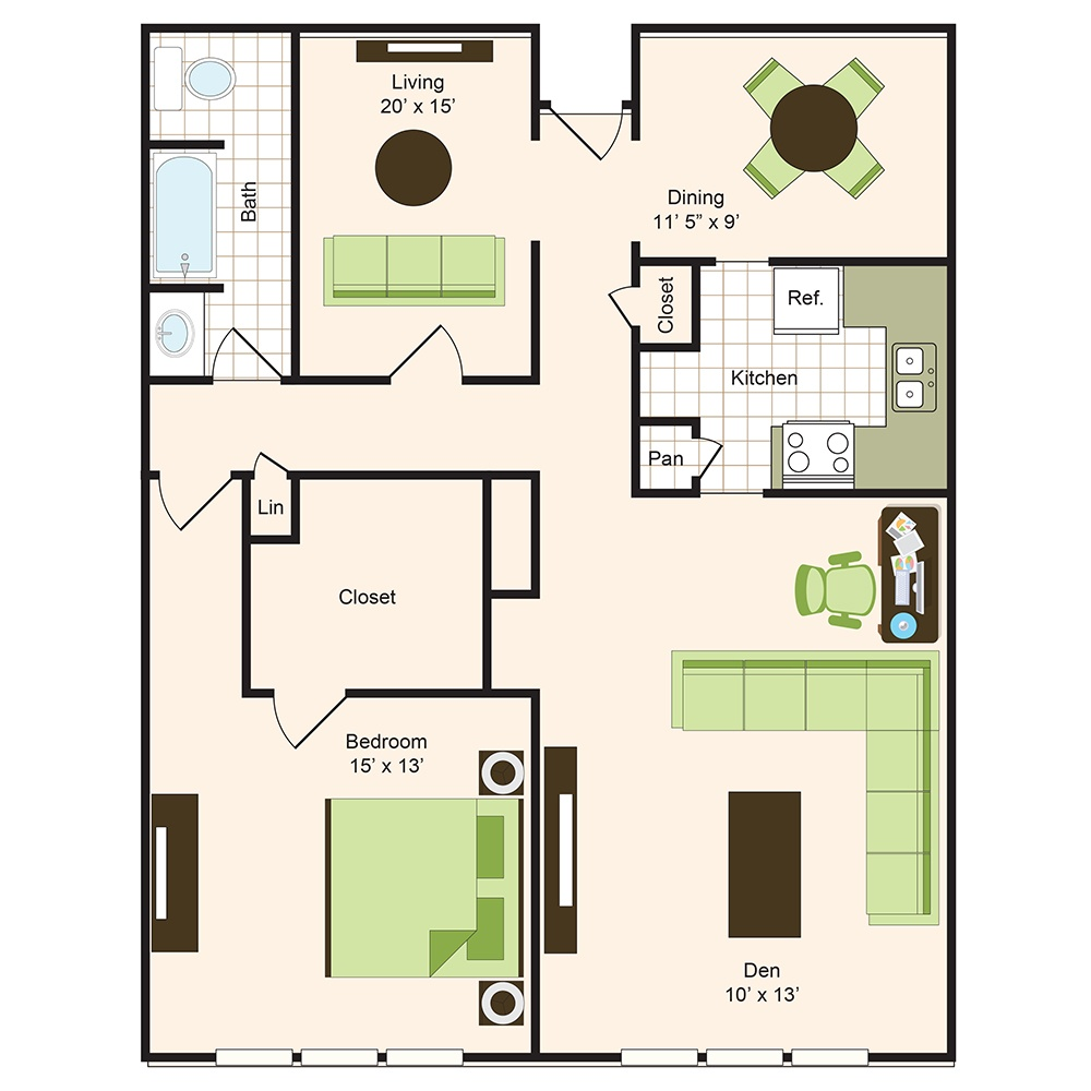 Floor plan 13 | 9900 Memorial Apartments Near The Galleria