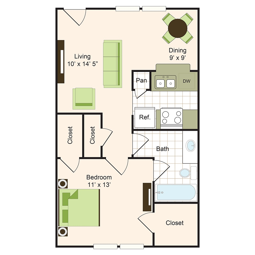 Floor plan 2 | 9900 Memorial Apartments Near Spring ISD
