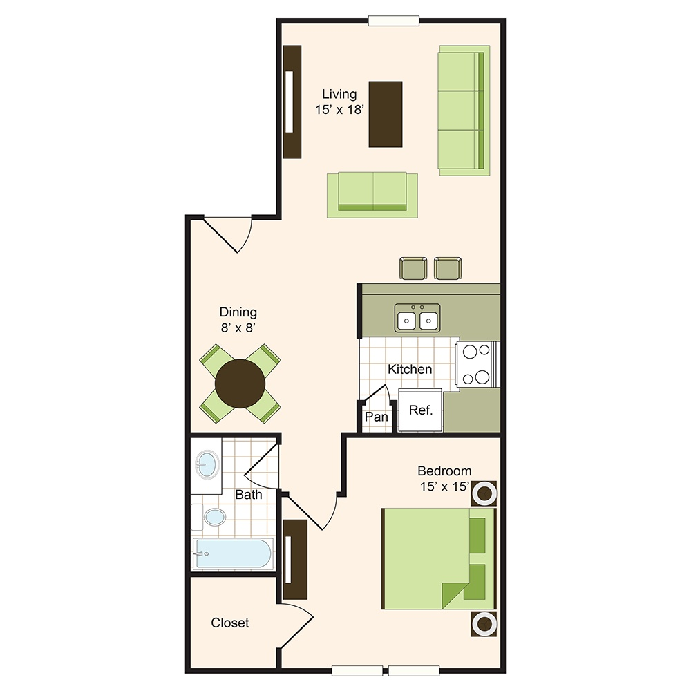 Floor plan 5 | Memorial Apartments 77024