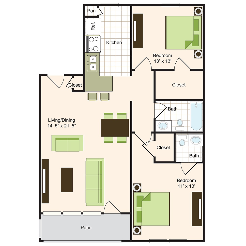 Floor plan 10 | Memorial Apartments 77024