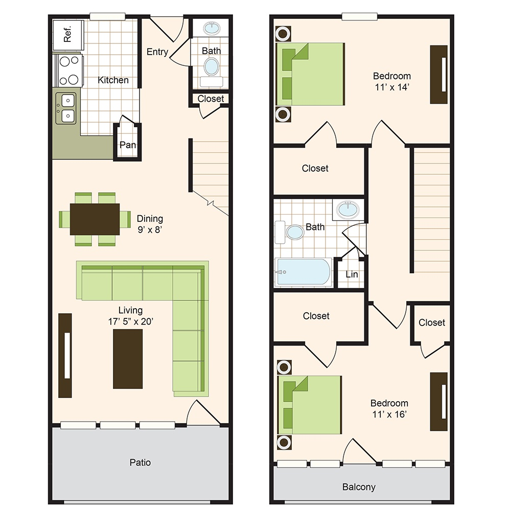 Floor plan 14 | 9900 Memorial Houston Luxury Apartments