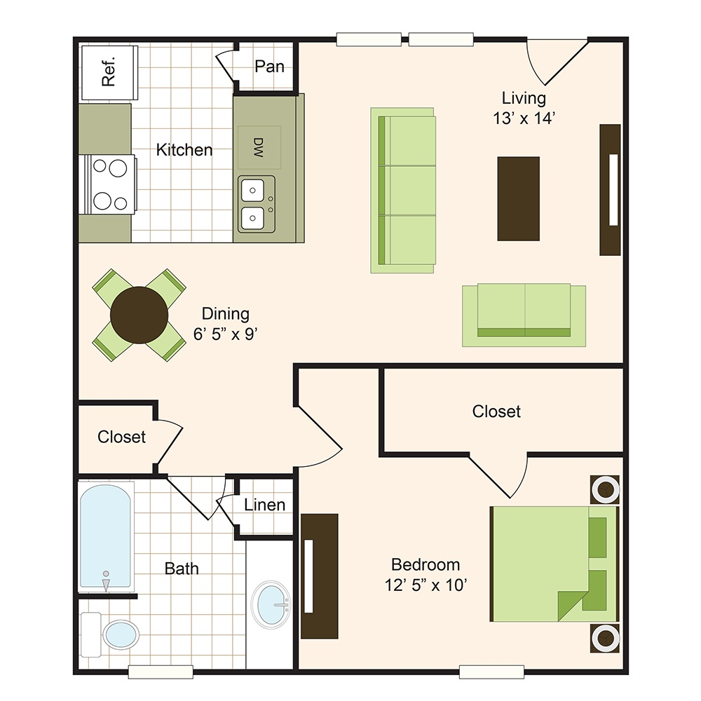 Floor plan 3 | 9900 Memorial Apartments Near The Galleria