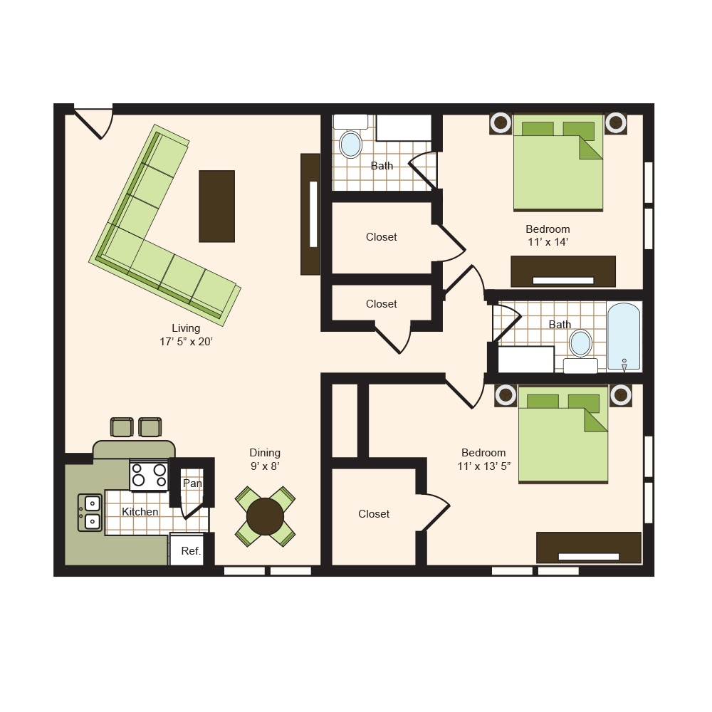 Floor plan 12 | 9900 Memorial Apartments Near Spring ISD