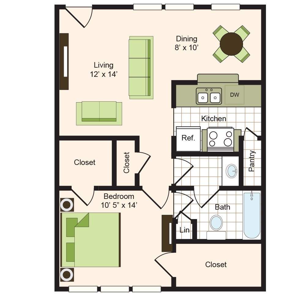 Floor plan 4 | 9900 Memorial Houston Luxury Apartments