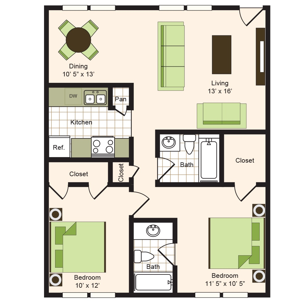Floor plan 8 | 9900 Memorial Apartments Near The Galleria