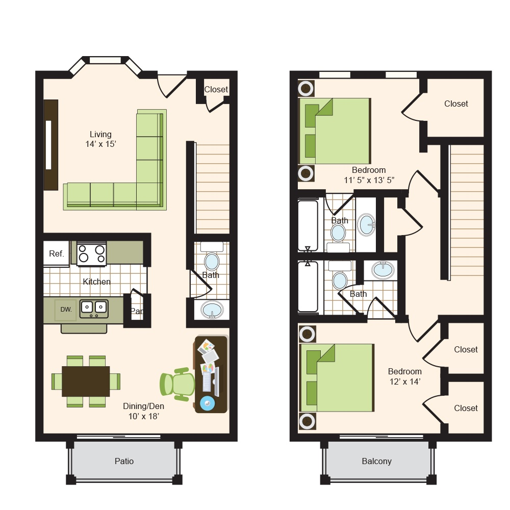 Floor plan 15 | Memorial Apartments 77024